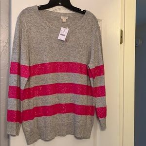 NWT J Crew factory sweater with sequins